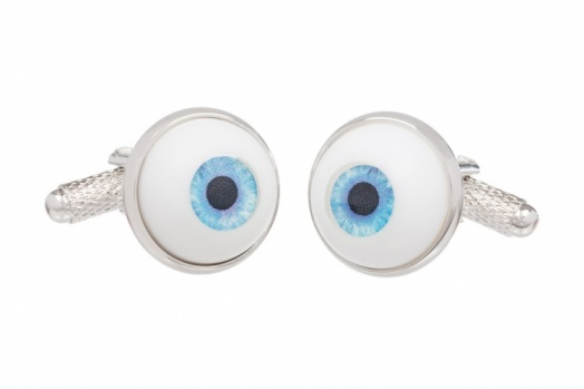 Blue Eyeball Cufflinks